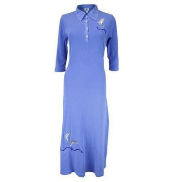 CREYCY8 Dolphin Breaching Women's Polo Dress