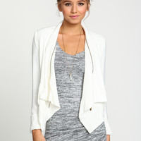 Zip Around Woven Blazer