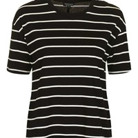 Stripe Tie Back T-shirt | Topshop