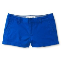 Solid Twill Shorty Shorts