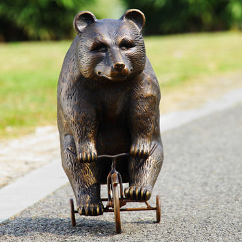 SPI Big Bear - Little Trike Garden Sculpture Aluminum