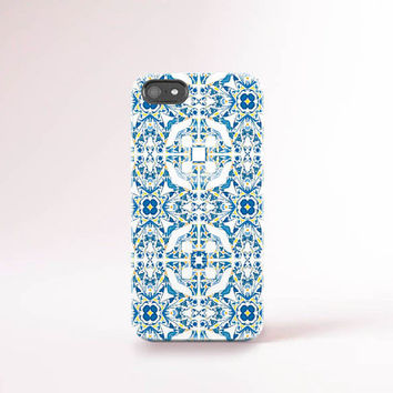 Portuguese Tile iPhone Case Tile Pattern iPhone 6 Case Blue iPhone 5C Case Portuguese Print iPhone 5 Case Bohemian Summer Accessories