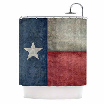 "Bruce Stanfield ""Texas State Flag"" Vintage Digital Shower Curtain"