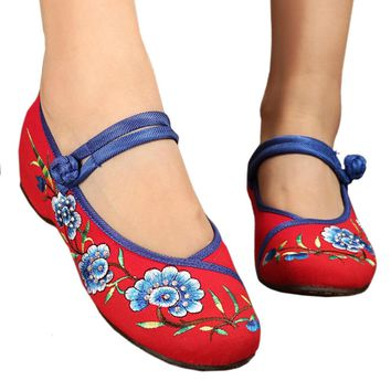Fashion Online Old Beijing Cloth Embroidered Shoes Slipsole