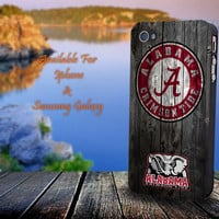 Alabama Crimson Tide - Print on hard plastic for iPhone case. Please choose the option.