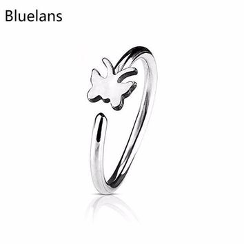 ac PEAPO2Q Bluelans Fake Non Piercing Clip-on Nose Ring Stud Club Fashion Jewelry Gift For Men Women