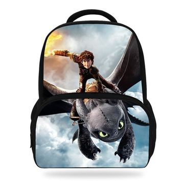 14inch Hot Sale Cartoon Bag Kids School Backpack How To Train Your Dragon Bag For Teenager Girl Boys