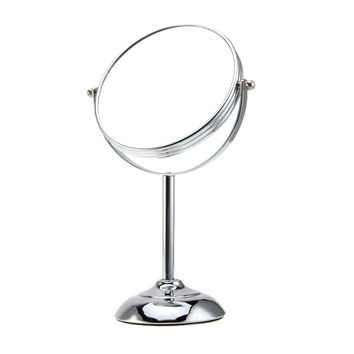 6 Inch 10x Magnification Circular Makeup Mirror Dual 2 Sided Round Shape Vanity Rotating Cosmetic Mirror Stand Magnifier Mirror