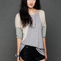Free People  Clothing Boutique > Colorblock Sleepy Tee
