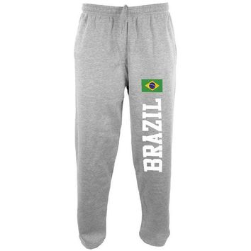 ONETOW Brazil Flag World Cup Mens Sweatpants