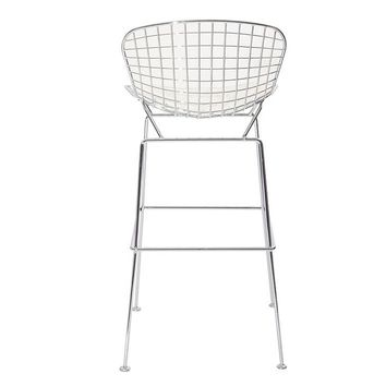 Bertoria Wire Dining Chair Stool White Top