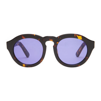 DIME - TORTOISE FRAME - PURPLE COLOR THERAPY LENS