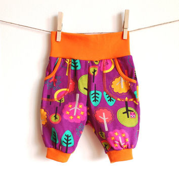 Baby boy girl pants Baby clothes Baby girl pants Toddler boys pants Boys trousers Sarouel pants Turquoise yellow pants Baby clothes
