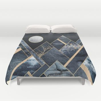 Stormy Mountains Duvet Cover by Elisabeth Fredriksson