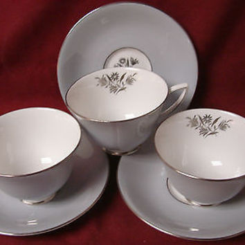 Royal Doulton, China Dinnerware Kingsmere, #H4909  (3) Cup and saucer