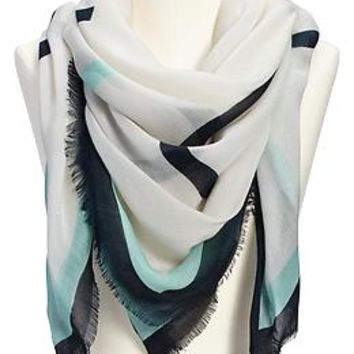 Women's Gauze Word-Graphic Scarves