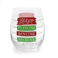 Tabletop Fill Line Stemless Wine Glass Christmas Tabletop