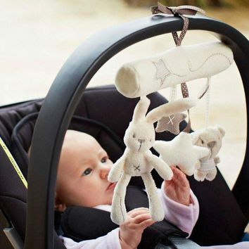 ONETOW Baby Rattle Toys Music Hanging Bed Safety Plush Toy Hand Bell Multifunctional Plush Toy Stroller Mobile Gifts zl274
