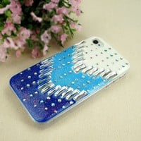 ZLYC Arrows and Dots Enamel Case for iPhone 5 (blue)