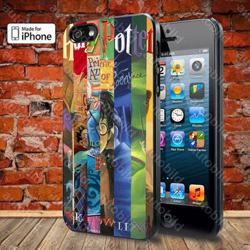 Harry Potter Cover Books Case For iPhone 5, 5S, 5C, 4, 4S and Samsung Galaxy S3, S4