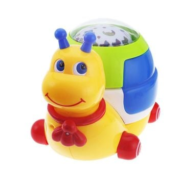 3D Baby Musical Snail Projector Music Player