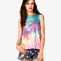 Tropical Palm Tree Muscle Tee