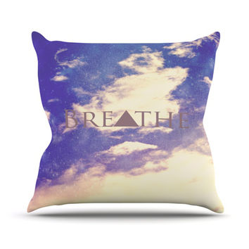 "Rachel Burbee ""Breathe"" Throw Pillow"