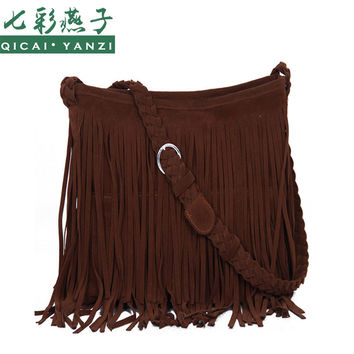 2017 New Women's Messenger Bags Tassel Crossbody Six colors Fringe Shoulder Bag Handbag Ladies High Quality Free Shipping S620