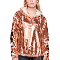 Metallic Quarter-Zip Anorak - PINK - Victoria's Secret