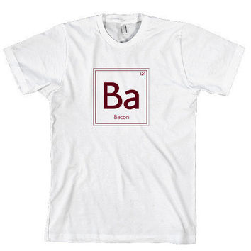 Bacon t shirt periodic table of bacon shirt by CrazyDogTshirts