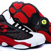 Cheap Air Jordans 13 Retro Men Shoes Black White Red