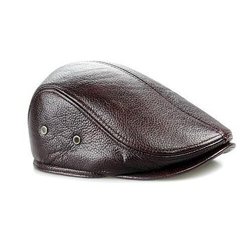 Men Leather Beba Hat