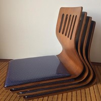 (4pcs/lot) Legless Floor Chair Asian Style Floor Seating Coffee Finish