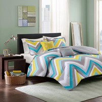 Elise Polyester Peach Skin Printed Comforter Set - Bedding | Intelligent Design