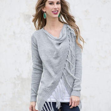 Falling to Pieces Sweater/Cardigan - Grey