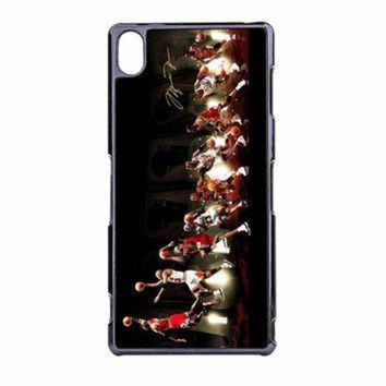 CREYUG7 Michael Jordan NBA Chicago Bulls Dunk Sony Xperia Z3 Case
