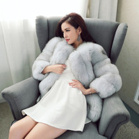 Elegant fur faux coat winter classic intercity SCE052