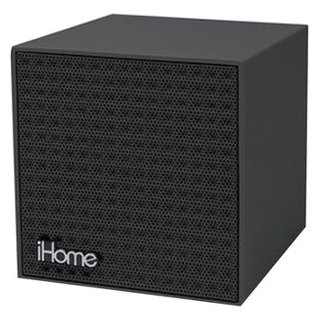 Ihome Rubberized Bluetooth Mini Speaker Cube With Rechargeable Battery