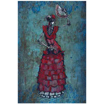 Flamenco Pelligroso Art Print by Artist David Lozeau