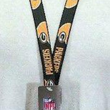 Green Bay Packers NFL Lanyard with Detachable Key Ring