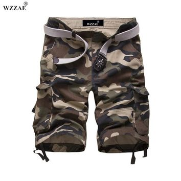 WZZAE 2017 Summer New Style mens camo cargo shorts army camouflage mens shorts for military casual Bermuda Masculina Size:29-42