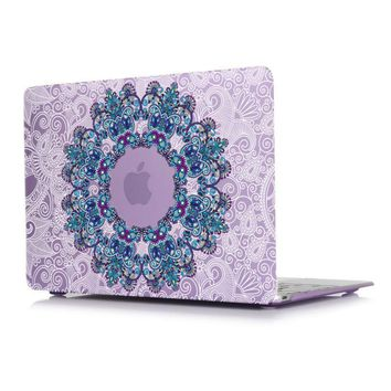 Mandala & Floral Paisley Matte Case For Apple Macbook Pro 13 15 Touch Bar Retina 12 Air 13.3 11.6 Laptop Bag A1706 A1707 A1502