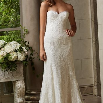 Wtoo by Watters Michelle 14128 Simple Lace Wedding Dress