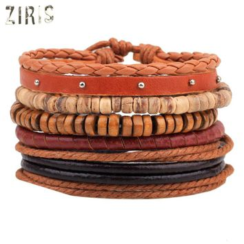ZIRIS 2017 New product Cowhide Hemp braided bracelet Men and women creative fashion bracelets