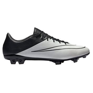 NIKE Mercurial Vapor X Tech Craft FG Soccer Cleat (Light Bone, Black)