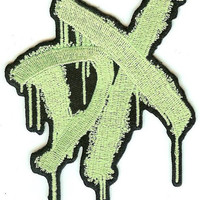 DX Iron-On Patch Green Logo WWE Wrestling