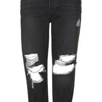MOTO Black Ripped Hayden Jeans - Black