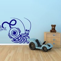 Wall Decal Vinyl Sticker Decals Art Decor Design crab diver Diving helmet immersion sea ocean M1516