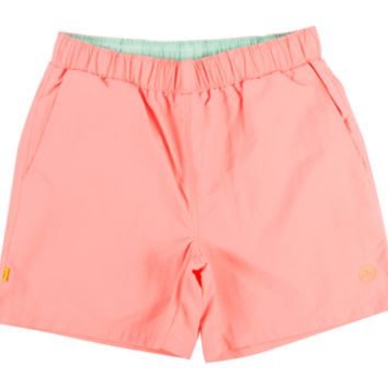 DOUBLE G NYLON DRAWSTRING SHORTS PEACH