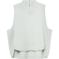 Theyskens' Theory Kamean B Sweater - Cropped Top - ShopBAZAAR
